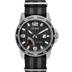 Citizen Mens PRT Black Fabric Strap Watch AW7030-06E