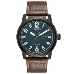 Citizen Mens Eco-Drive Leather Strap Watch BM8478-01L