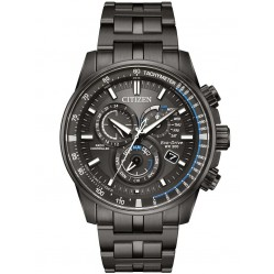 Citizen Mens PCAT Gunmetal Bracelet Watch AT4127-52H