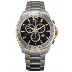 Citizen Mens Two Tone Chronograph Watch AT2074-58E