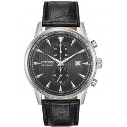 Citizen Mens Eco Black Leather Watch CA7000-04H