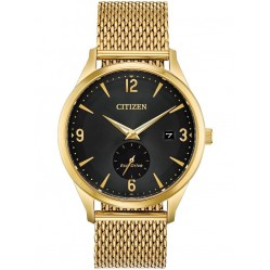Citizen Mens BTW Gold Tone Mesh Bracelet Watch BV1112-56E