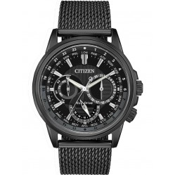 Citizen Mens Eco-Drive Calendrier Black Mesh Watch BU2025-76E