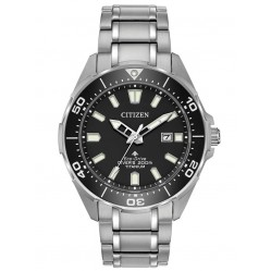 Citizen Mens Promaster Diver Black Dial Titanium Bracelet Watch BN0200-56E