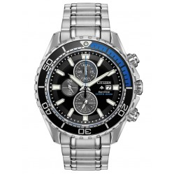 Citizen Mens Promaster Diver Chronograph Black Dial Bracelet Watch CA0719-53E