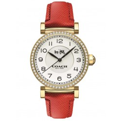 Coach Ladies Madison Red Leather Watch 14502400