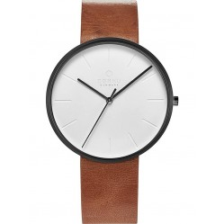 Obaku Hassel Tawny Leather Strap Watch V219GXBIRZ