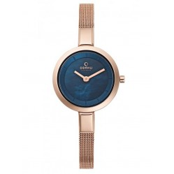 Obaku Ladies Rose Gold Plated Mesh Bracelet Watch V129LXVLMV