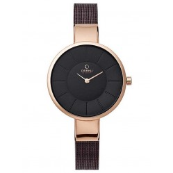 Obaku Ladies Bronze Tone Mesh Bracelet Watch V149LXVNMN
