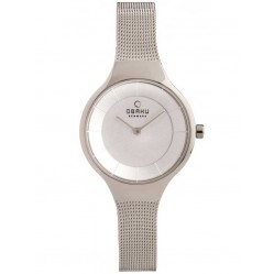 Obaku Ladies Mesh Bracelet Watch V166LXCIMC