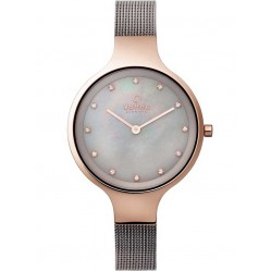 Obaku Ladies Mother of Pearl Mesh Bracelet Watch V173LXVJMJ
