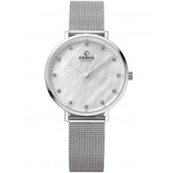 Obaku Ladies Mesh Bracelet Watch V186LXCWMC