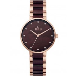 Obaku Ladies Two Tone Bracelet Watch V189LXVNSA