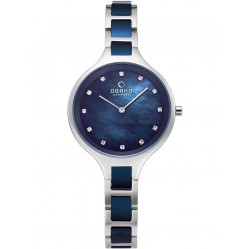 Obaku Iris Bluesteel Two Colour Bracelet Watch V218LXCLSL