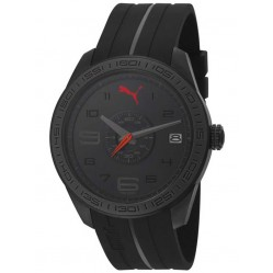 Puma Mens Slice Black Strap Watch PU102971004