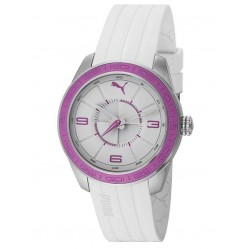 Puma Unisex Slice White Strap Watch PU102972003