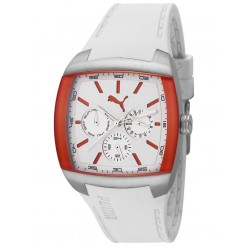 Puma Mens White Strap Watch PU102722001