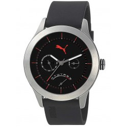 Puma Mens Curve Black Strap Watch PU102681002
