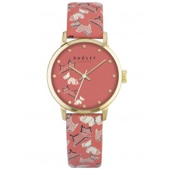 Radley Ladies Gold Plated Pink Leather Strap Watch RY2368