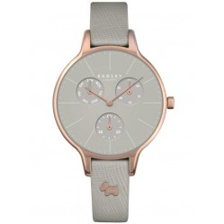 Radley Ladies Rose Gold Plated Grey Leather Strap Watch RY2390