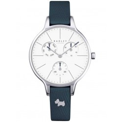 Radley Ladies Shingle Stainless Steel Blue Leather Strap Watch RY2389