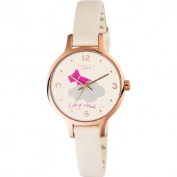 Radley Rose Gold Plated Cream Strap Watch RY2478