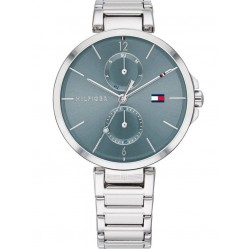 Tommy Hilfiger Angela Stainless Steel Blue Day Date Dial Bracelet Watch 1782126