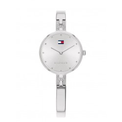 Tommy Hilfiger Kit Stainless Steel White Dial Crystal Bangle Watch 1782137