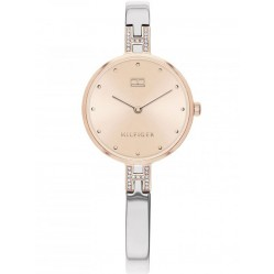 Tommy Hilfiger Kit Two Tone Rose Gold Dial Crystal Bangle Watch 1782138