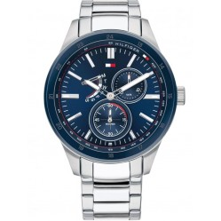 Tommy Hilfiger Austin Stainless Steel Blue Day Date Dial Bracelet Watch 1791640