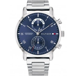 Tommy Hilfiger Kane Stainless Steel Navy Day Date Bracelet Watch 1710401