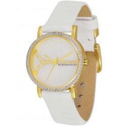 BCBG Maxazria Ladies Soleil Small Gold Plated Mother Of Pearl Strap Watch BG6245