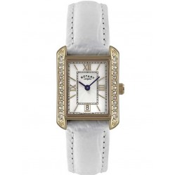 Rotary Ladies White Strap Watch LS02652-41