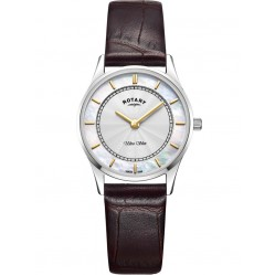 Rotary Ladies Brown Ultra Slim Watch LS08300/02
