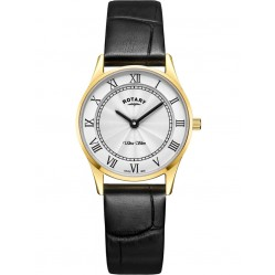 Rotary Ladies Gold Plated Ultra Slim Watch LS08303/01