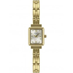 Rotary Ladies Gold Plated Bracelet Watch LB02871-09