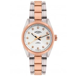 Rotary Rose Gold Plated Stainless Steel Bracelet Watch LB02662-02