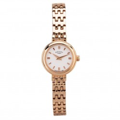 Rotary Ladies Rose Gold Plated Bracelet Watch LB02088-02