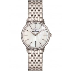 Rotary Ladies Mother of Pearl Steel Watch LB90050/41