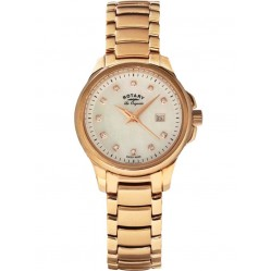 Rotary Ladies Rose Gold Plated Watch LB90120/41