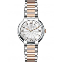 Dreyfuss Ladies Diamond Set Two Tone Watch DLB00062/D/01