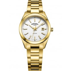 Rotary Ladies Gold Plated Havana Watch LB05081/02