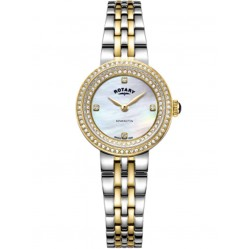 Rotary Ladies Kensington Two Tone Crystal Watch LB05371/41