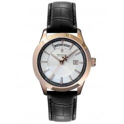 Dreyfuss Mens Black Leather Watch DGS00060/06