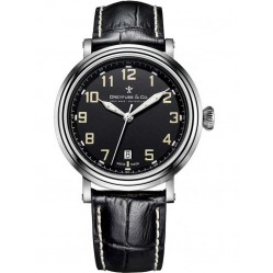 Dreyfuss Mens Black Leather Strap Watch DGS00152/19