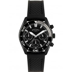 Rotary Mens Black Rubber Strap Watch GS00107-04