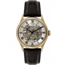 Rotary Mens Mechanical Skeleton Watch GS02942/01