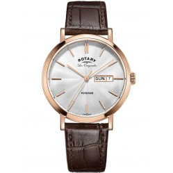 Rotary Windsor Swiss Made Brown Strap Watch GS90157/02