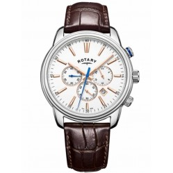 Rotary Monaco Sports Chronograph Brown Strap Watch GS05083/06