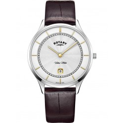 Rotary Mens Brown Ultra Slim Watch GS08300/02